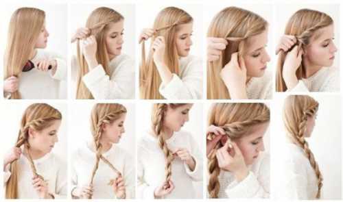 как плести косу из 4 прядей, подробная схема плетения
